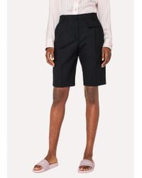 Paul Smith - Black Wool Shorts - Lyst