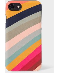 Paul Smith - 'swirl' Print Leather Iphone 7 Case - Lyst
