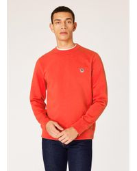 Paul Smith - Sweatshirt Orange Logo Zèbre En Coton Bio - Lyst