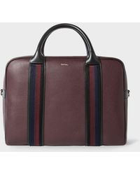 Paul Smith - Men's Burgundy Leather 'city Webbing' Large Folio - Lyst