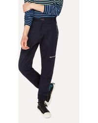 Paul Smith - Navy Stretch-Cotton Flight Trouser - Lyst