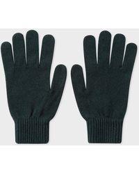 Paul Smith - Dark Green Cashmere-Blend Gloves - Lyst