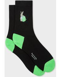 Paul Smith - Black 'rabbit Scribble' Socks - Lyst