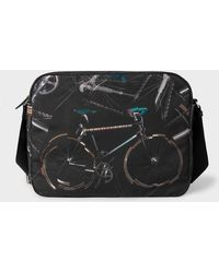 Paul Smith - 'Paul's Bike' Print Canvas Messenger Bag - Lyst