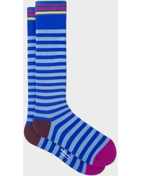 Paul Smith - Cobalt Blue Stripe 'A Sock To Travel In' - Lyst