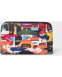 Paul Smith - 'Cycling Jersey' Print Canvas Wash Bag - Lyst