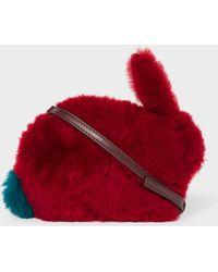 Paul Smith - Burgundy 'Rabbit' Faux Fur Cross-Body Bag - Lyst