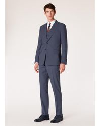 Paul Smith - Le Piccadilly - Costume Homme 'A Suit To Travel In' Bleu Ardoise Coupe Ajustée - Lyst