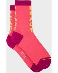 Paul Smith - Pink 'Peace' Socks - Lyst