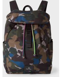 Paul Smith - Camouflage Flap Canvas Backpack - Lyst