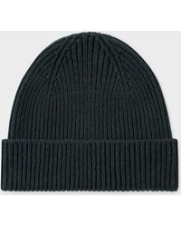 Paul Smith - Dark Green Cashmere-Blend Beanie Hat - Lyst