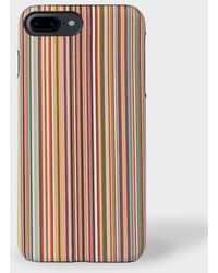 Paul Smith   Signature Stripe Leather iPhone 7 Plus Case   Lyst