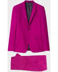 Paul Smith - The Kensington - Slim-Fit Purple Wool Suit - Lyst