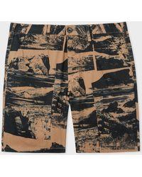 Paul Smith - Short Camel Imprimé 'Harold's Collage' En Coton - Lyst