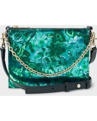 6b1c79a090 Paul Smith - 'precious Stones' Print Leather Cross-body Concertina Bag -  Lyst