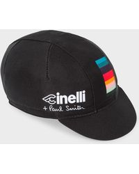 Paul Smith - Cinelli Black 'Artist Stripe' Detail Cycling Cap - Lyst