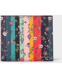 Paul Smith - 'Balloon Floral' Leather Billfold Wallet - Lyst