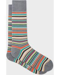 Paul Smith - Grey Signature Stripe Socks - Lyst