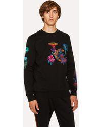 Paul Smith - Black 'Florian' Embroidered Sweatshirt - Lyst