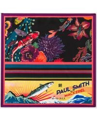 Paul Smith - Men's Black Leather 'mini' Print Interior Billfold And Coin Wallet - Lyst