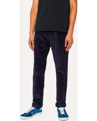 Paul Smith - Tapered-Fit Navy Corduroy Trousers - Lyst