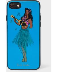 Paul Smith - Turquoise 'people Hula' Lenticular Iphone 6/6s/7/8 Case - Lyst