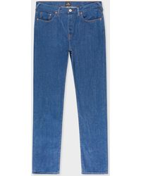 Paul Smith - Tapered-Fit Blue Rinse 9.8oz 'West Coast Denim' Jeans - Lyst