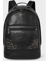 Paul Smith - Black Leather Backpack With 'Dreamer' Stud Detail - Lyst