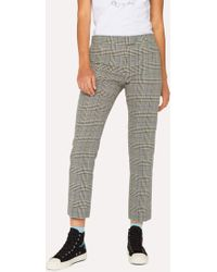 Paul Smith - Slim-Fit Black And White Check Cotton Trousers - Lyst