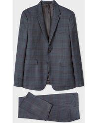 Paul Smith - The Kensington - Slim-Fit Slate Grey Check Wool Suit - Lyst