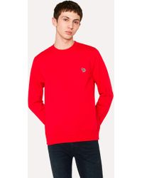Paul Smith - Men's Red Organic-cotton Zebra Logo Sweatshirt - Lyst