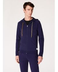 Paul Smith - Navy Jersey Cotton Lounge Hoodie - Lyst