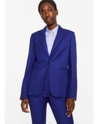 Paul Smith - A Suit To Travel In - Women's Indigo One-button Wool Blazer - Lyst