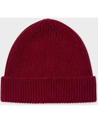 8d3a9913955 Paul Smith Men s Bi-colour Burgundy And Navy Wool Trilby Hat for Men ...