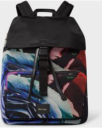 Paul Smith - 'Rose Collage' Print Mesh Flap Backpack - Lyst