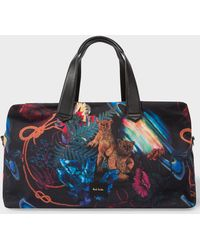 Paul Smith - 'Explorer' Print Canvas Weekend Bag - Lyst