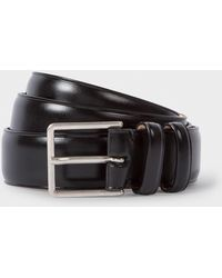 Paul Smith - Black Leather Double Keeper Classic Suit Belt - Lyst