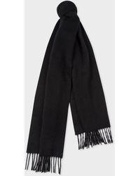 0d28200645bc6 Paul Smith Striped Scarf in Black for Men - Lyst
