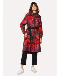 Paul Smith - 'Ocean' Print Micro-Ripstop Trench Coat - Lyst