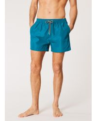 Paul Smith - Short De Bain Bleu Pétrole - Lyst