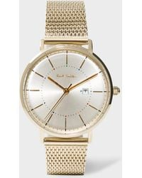 Paul Smith - Unisex Gold 'petit Track' Watch - Lyst