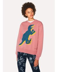 Paul Smith - Pink Large 'Dino' Print Cotton Sweatshirt - Lyst