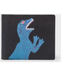 Paul Smith   Men's Black 'Dino' Print Leather Billfold Wallet   Lyst