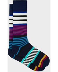 Paul Smith - Navy Rak Stripe Socks - Lyst