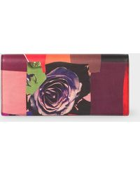 Paul Smith - 'Rose Collage' Print Leather Tri-Fold Purse - Lyst