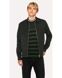 Paul Smith - Dark Green Cotton Patch-Pocket Jacket - Lyst