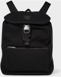Paul Smith - Black Canvas Flap Backpack - Lyst