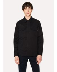 Paul Smith - Black Cotton-Twill Shirt Jacket - Lyst