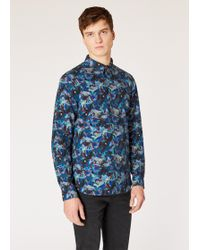 Paul Smith - Tailored-fit Multi-coloured 'urban Fox Collage' Print Cotton Shirt - Lyst