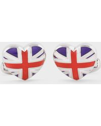 Paul Smith - Men's 'union Jack Heart' Cufflinks - Lyst